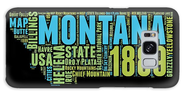Usa Galaxy Case - Montana Word Cloud 1 by Naxart Studio