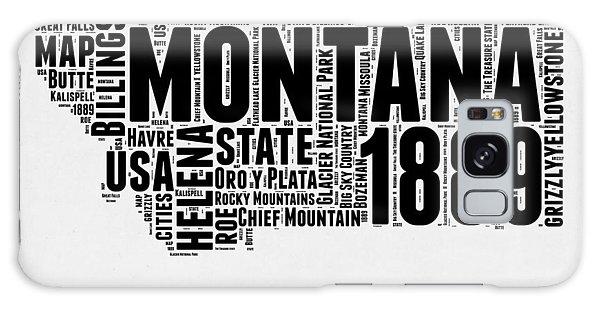 Montana Galaxy Case - Montana Word Cloud 2 by Naxart Studio