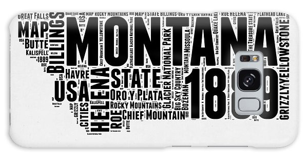 Usa Galaxy Case - Montana Word Cloud 2 by Naxart Studio