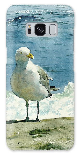 Seashore Galaxy Case - Montauk Gull by Tom Hedderich