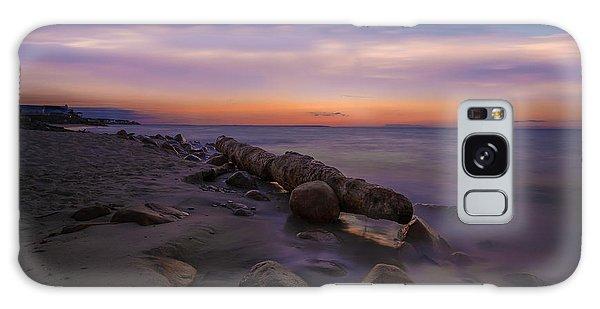 Montauk Sunset Boulders Galaxy Case