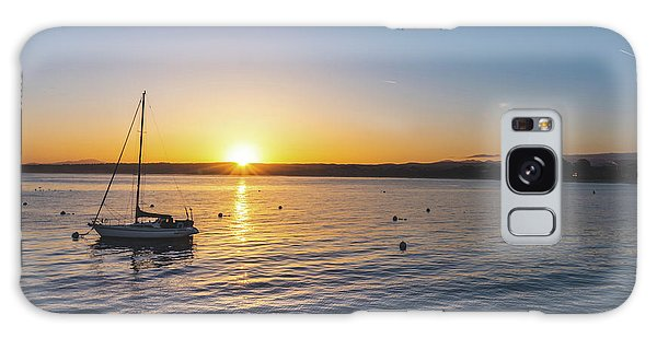 Monterey Bay Sailboat At Sunrise Galaxy Case