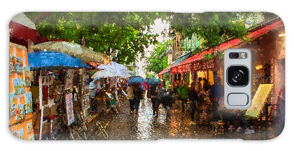 Montmartre Art Market, Paris Galaxy Case by Carl Amoth