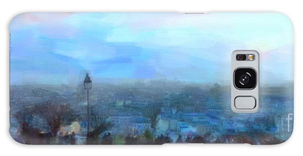 Montmartre From The Butte Galaxy Case by Chris Armytage