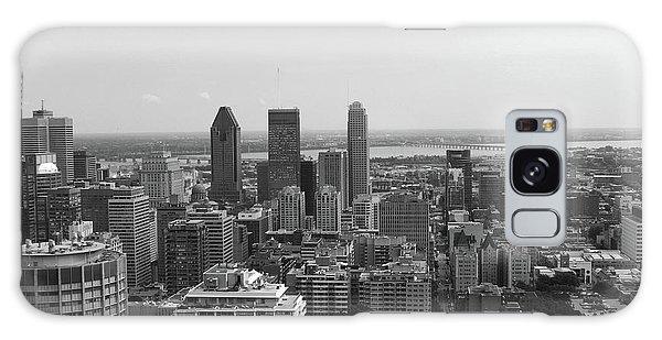 Montreal Cityscape Bw Galaxy Case