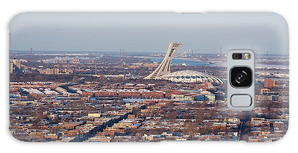 Quebec City Galaxy Case - Montreal Cityscape With Olympic Stadium by Jane Rix
