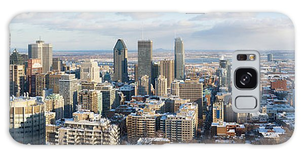 Quebec City Galaxy Case - Montreal In Winter Panorama by Jane Rix