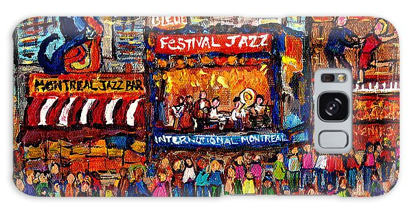 Montreal International Jazz Festival Painting Live Jazz Band Outdoor Music Concert Scene C Spandau  Galaxy Case