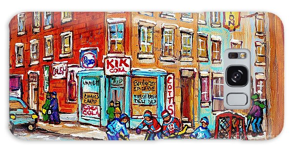 Montreal Storefront Paintings Debullion Street Hockey Art Quebec Winterscenes C Spandau Canadian Art Galaxy Case