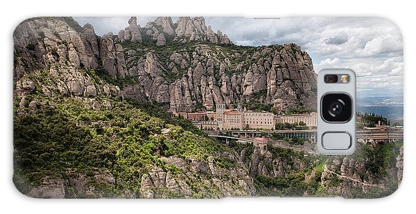 Montserrat Mountains And Monastery In Spain Galaxy Case