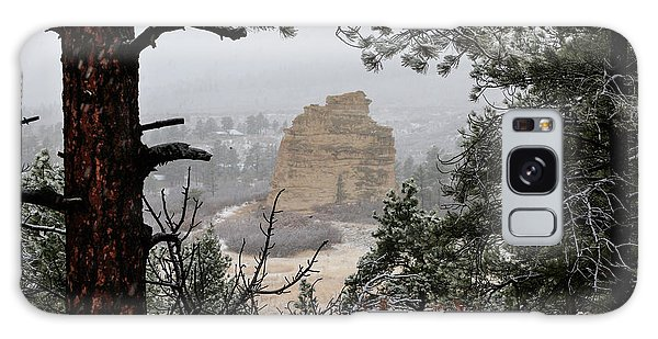 Monument Rock In The Snow Galaxy Case