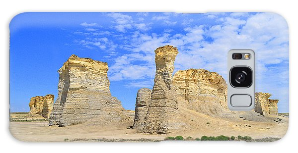 Monument Rocks In Kansas 2 Galaxy Case
