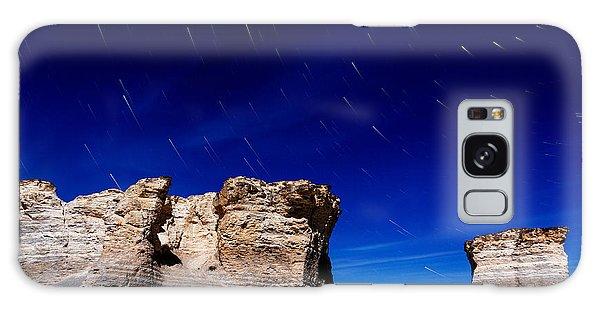 Monument Rocks Moonlight Galaxy Case
