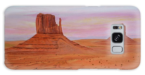 Monument Valley Galaxy Case by Jimmie Bartlett