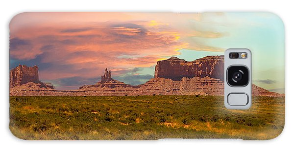 Monument Valley Landscape Vista Galaxy Case