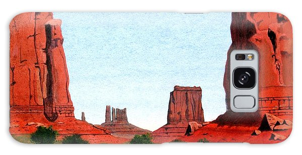 Monument Valley North Window Galaxy Case