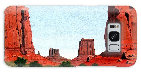 Monument Valley North Window Galaxy Case by Mike Robles