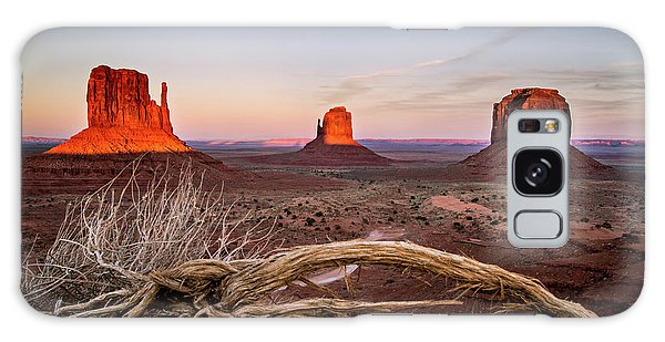 Monument Valley Sunset Galaxy Case