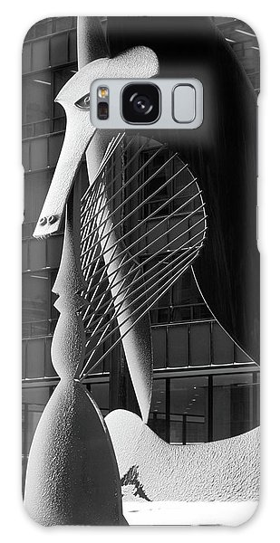 Chicago Art Galaxy Case - Monumental Sculpture In Front Of A Building, Chicago Picasso, Daley Plaza, Chicago, Illinois, Usa by Panoramic Images