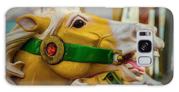 County Fair Galaxy Case - Moody  Carrousel Horse by Garry Gay