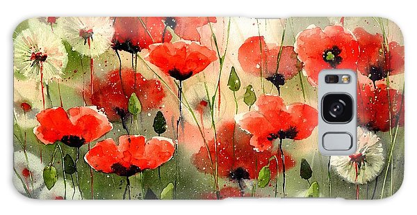Breeze Galaxy Case - Moody Poppies In The Afternoon by Suzann's Art