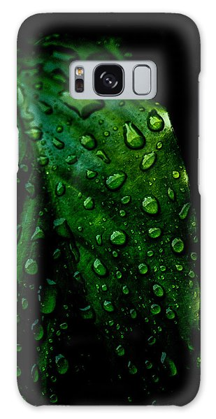 Moody Raindrops Galaxy Case by Parker Cunningham