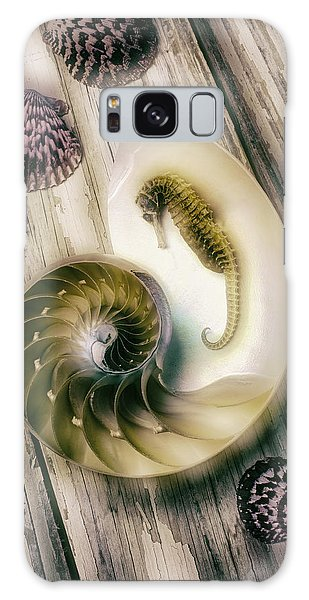 Moody Seahorse Galaxy Case by Garry Gay