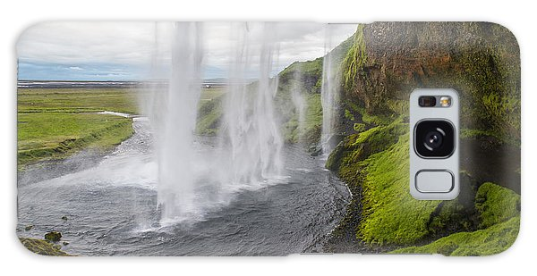 Moody Seljalandsfoss Galaxy Case