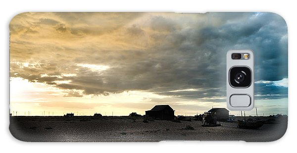 Moody Sky, Dungeness Beach  Galaxy Case