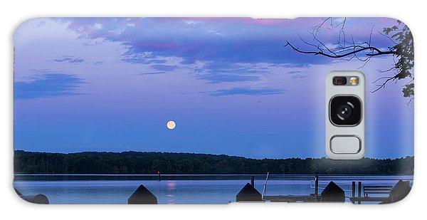 Moon And Pier Galaxy Case