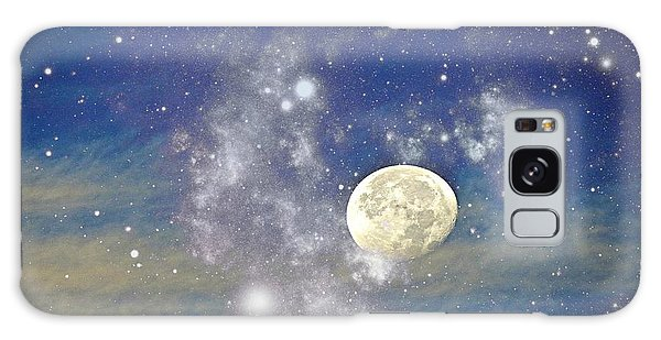 Moon And The Stars Galaxy Case