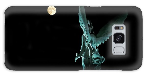 Super Moon And Winged Goddess Of Victory Galaxy Case by Charline Xia