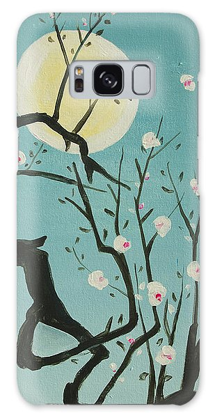 Moon Blossoms Galaxy Case