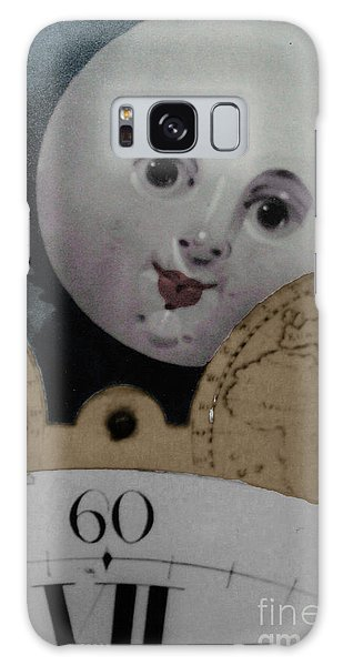 Moon Face Galaxy Case by Lyric Lucas