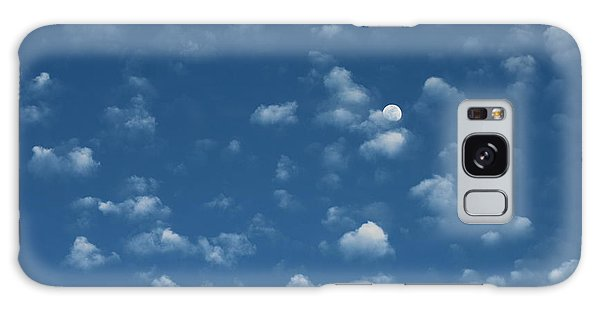 Moon In The Morning Sky Galaxy Case