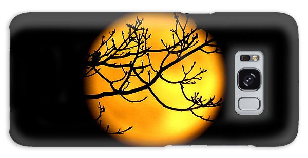 Moon In The Trees Galaxy Case