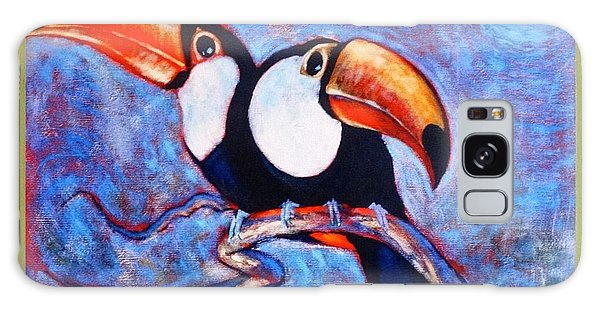 Moon Light Toucans Two Galaxy Case by Charles Munn