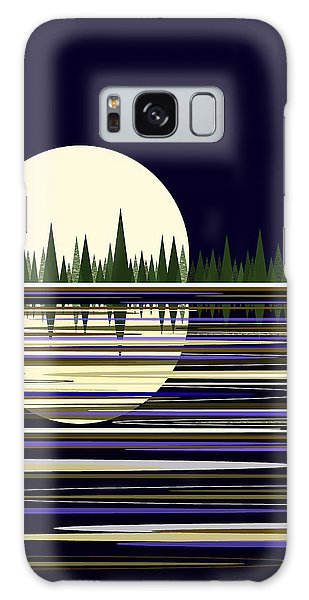Moon Lit Water Galaxy Case by Val Arie