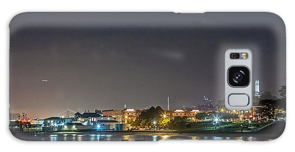 Galaxy Case featuring the photograph Moon Over Aquatic Park by Kate Brown