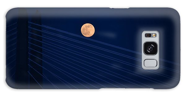 Moon Over Bridge Galaxy Case by Jerry Cahill