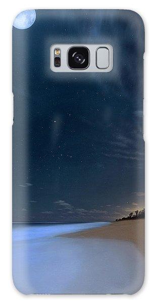 Moon Over Hobe Sound Beach Florida  Galaxy Case