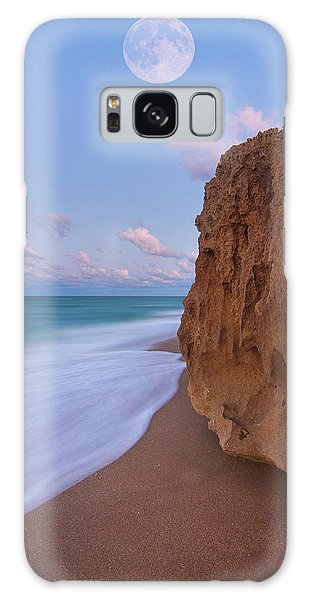 Moon Over Hutchinson Island Beach Galaxy Case