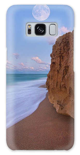 Moon Over Hutchinson Island Beach Galaxy Case by Justin Kelefas