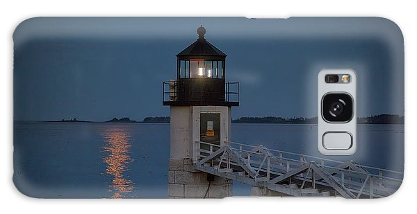 Galaxy Case featuring the photograph Moon Over Marshall Point by Rick Berk