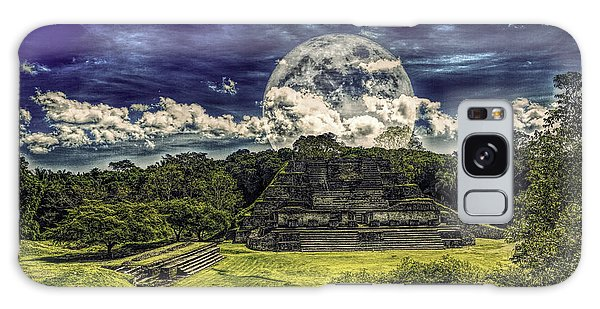 Moon Over Mayan Temple Two Galaxy Case by Ken Frischkorn