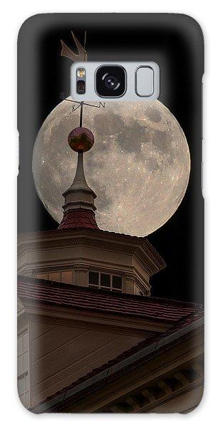Moon Over Mount Vernon Galaxy Case by Ed Clark