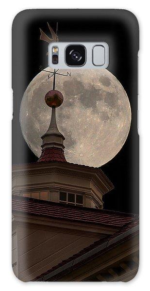 Moon Over Mount Vernon Galaxy Case