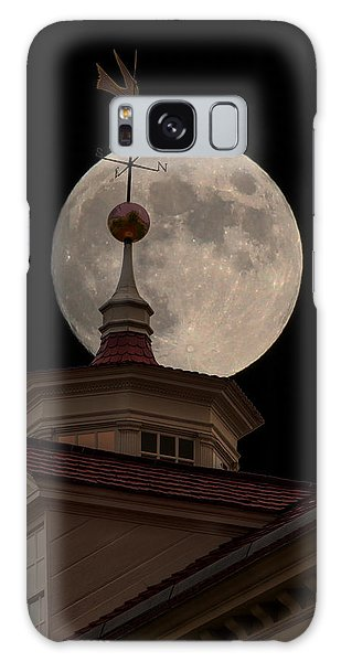 Moon Over Mount Vernon Galaxy Case