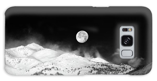 Moon Over The Alps Galaxy Case by Silvia Ganora