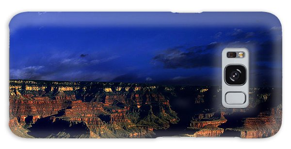 Moon Over The Canyon Galaxy Case by Anthony Jones